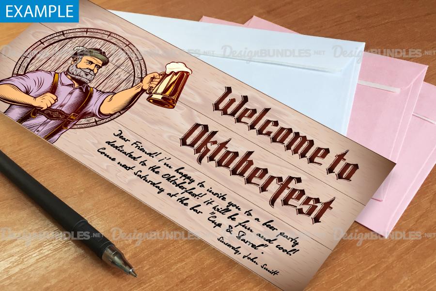 Vector Flyer Invite Copyspace Beer Glass Oktoberfest Man example image 5
