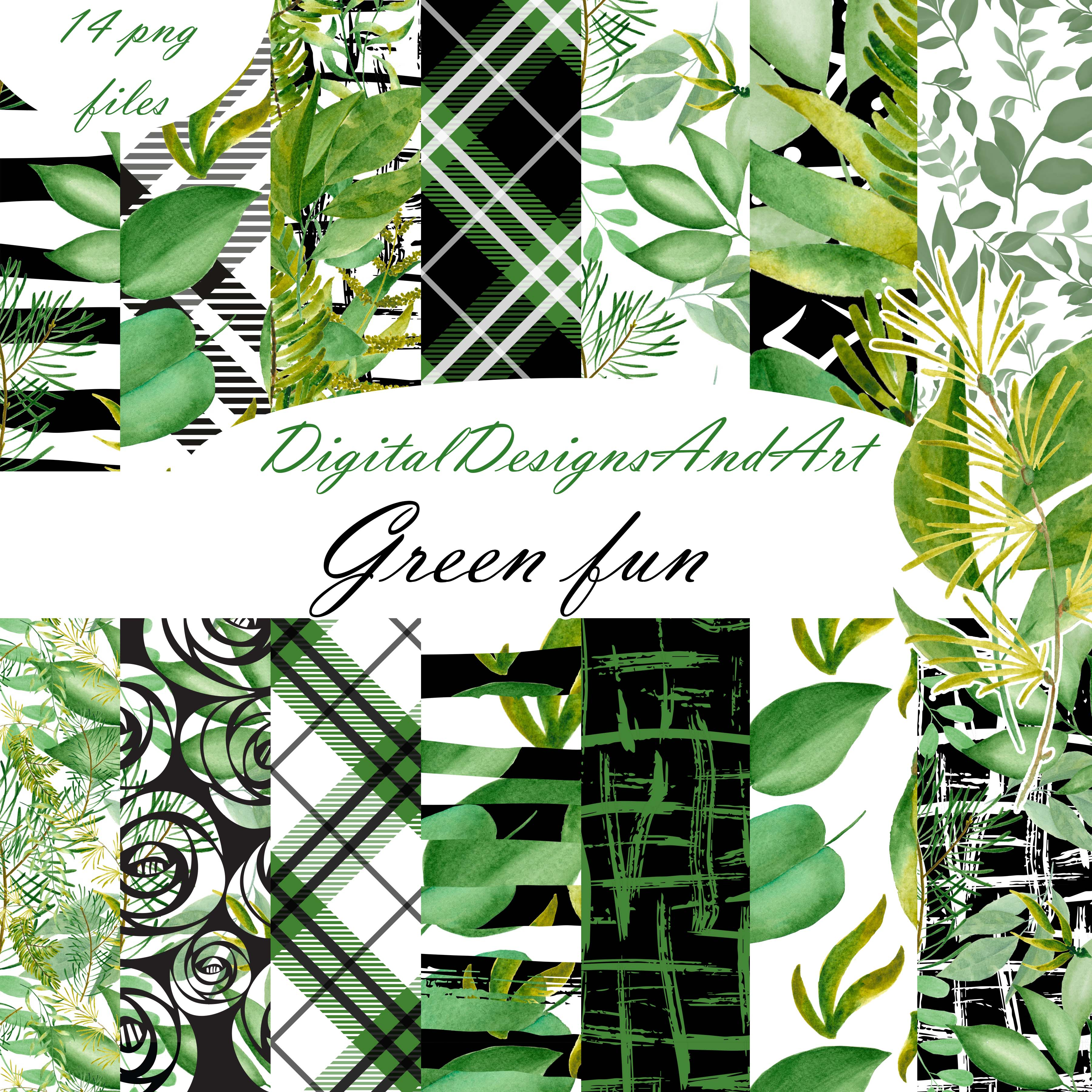 Green leaves paper example image 1