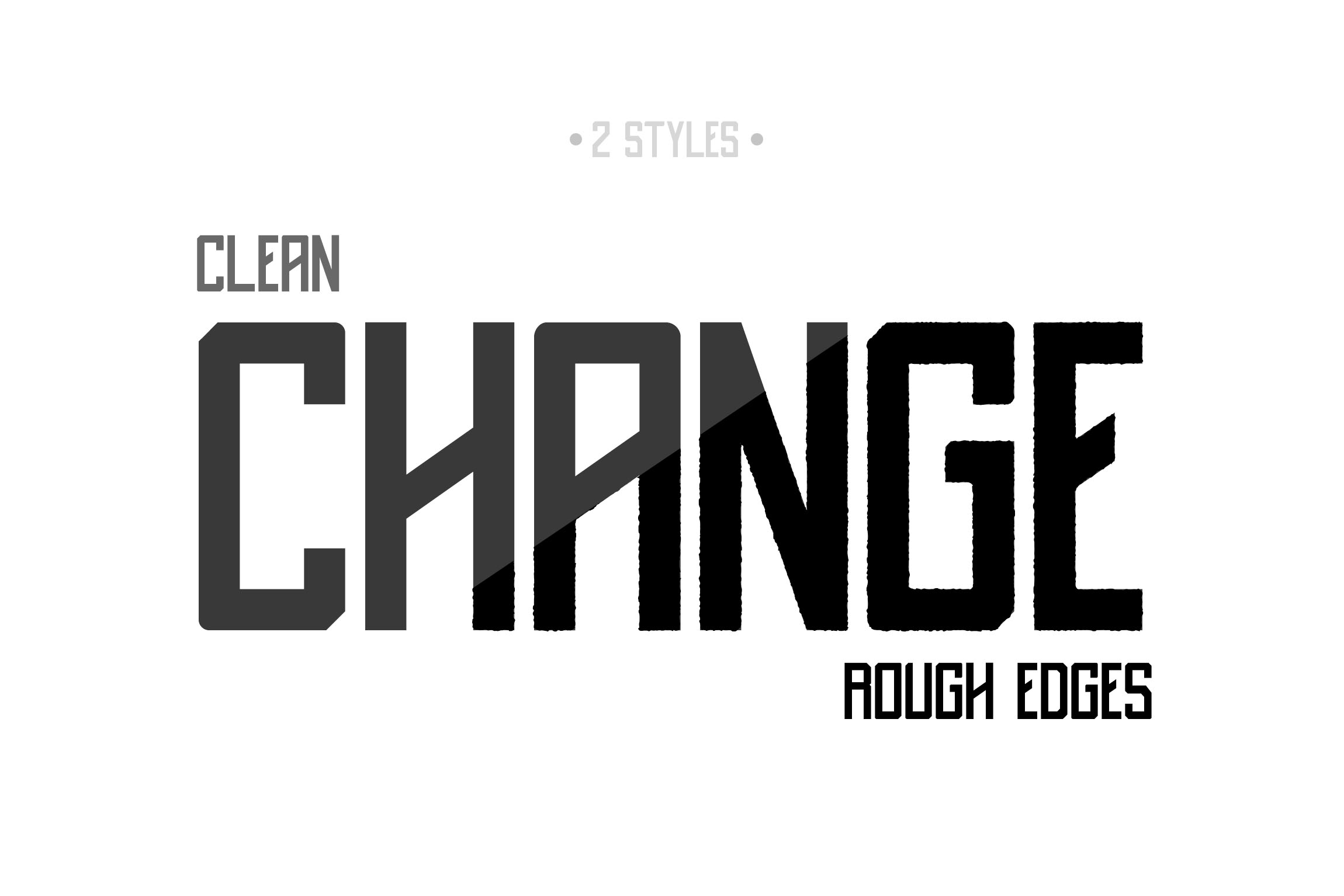 Destrukt - Sans Serif Font- 2 Styles example image 5