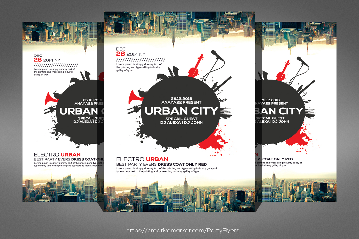 Urban Sound Party Flyer example image 1