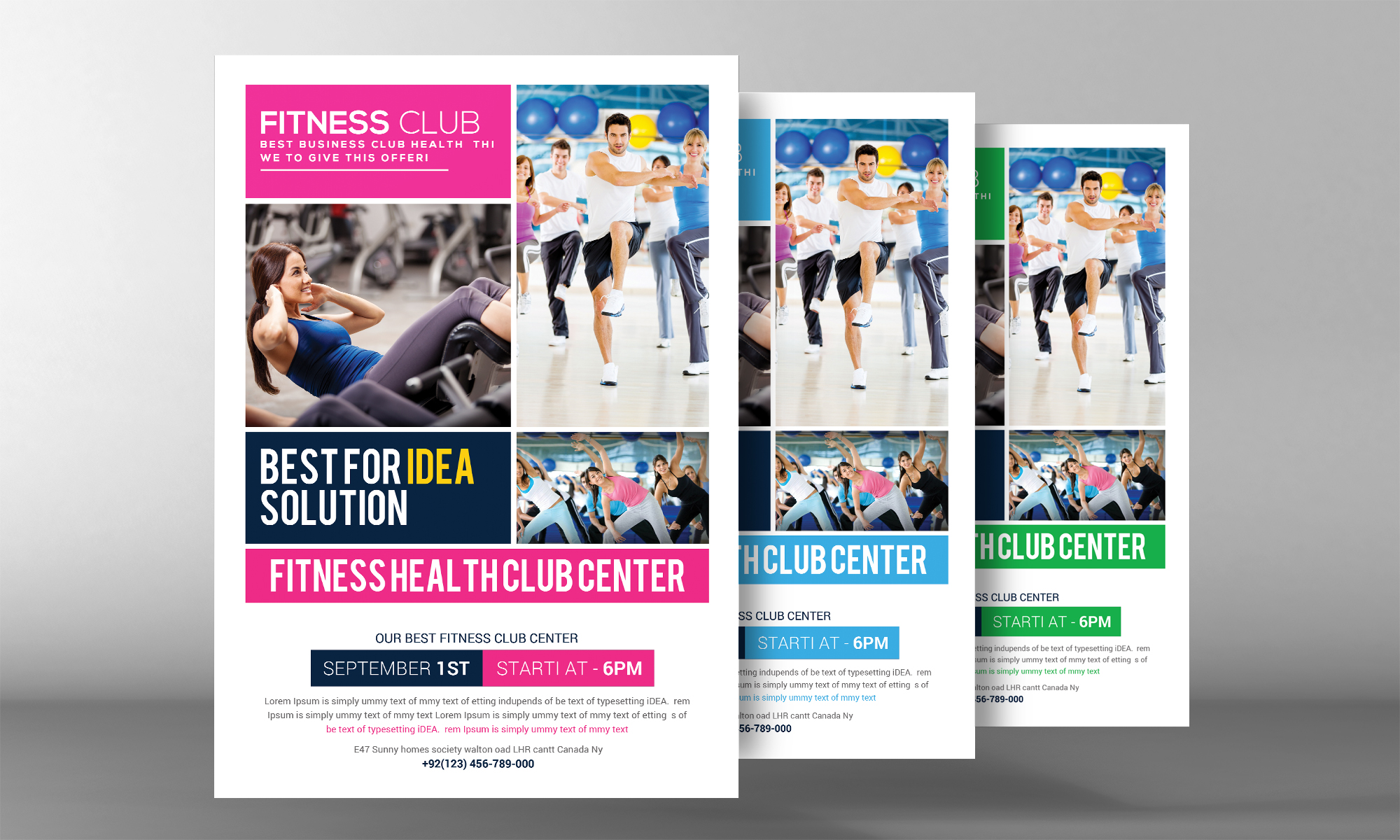 Fitness Health Club Flyer  example image 2