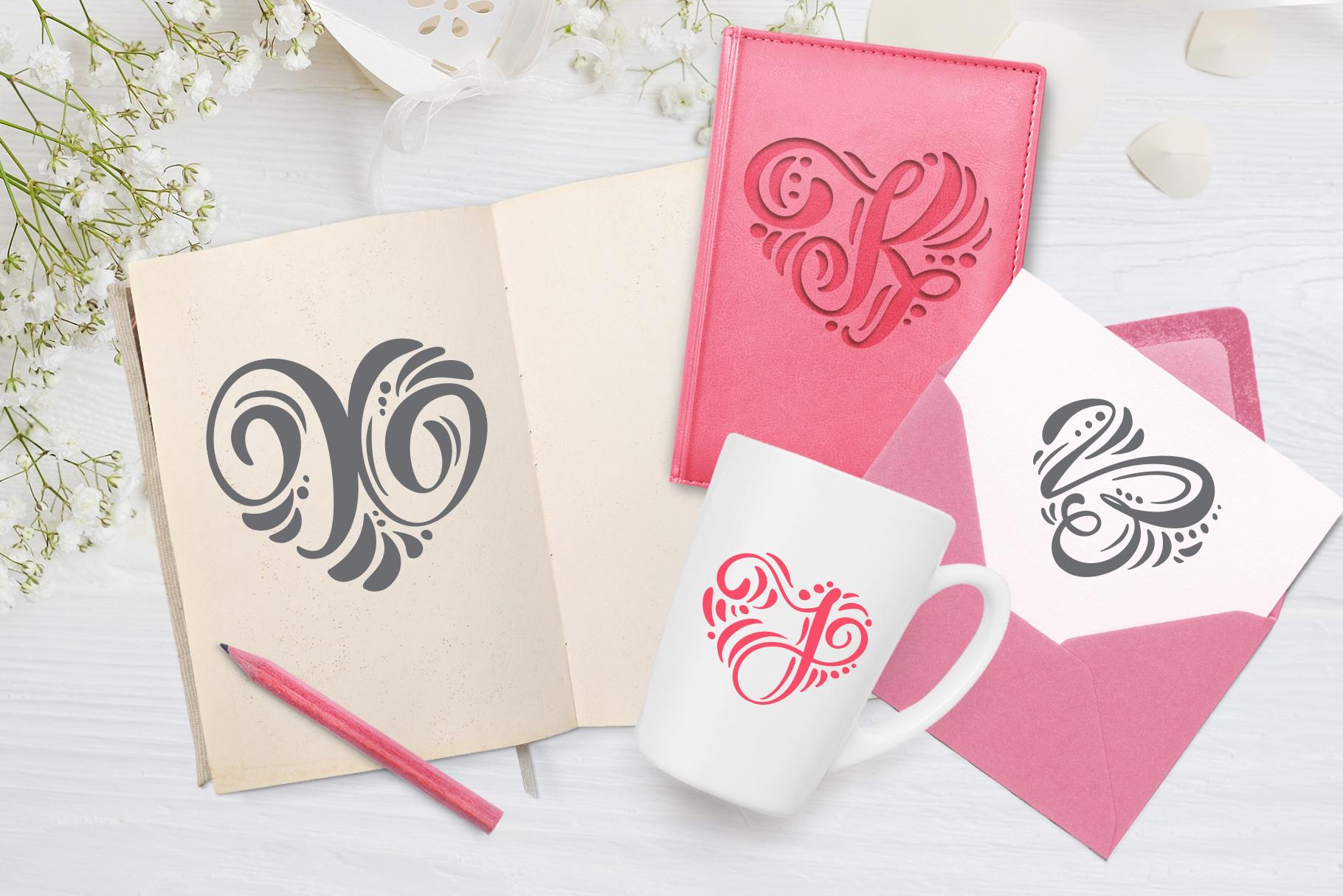 Monogram Valentine Font example image 6