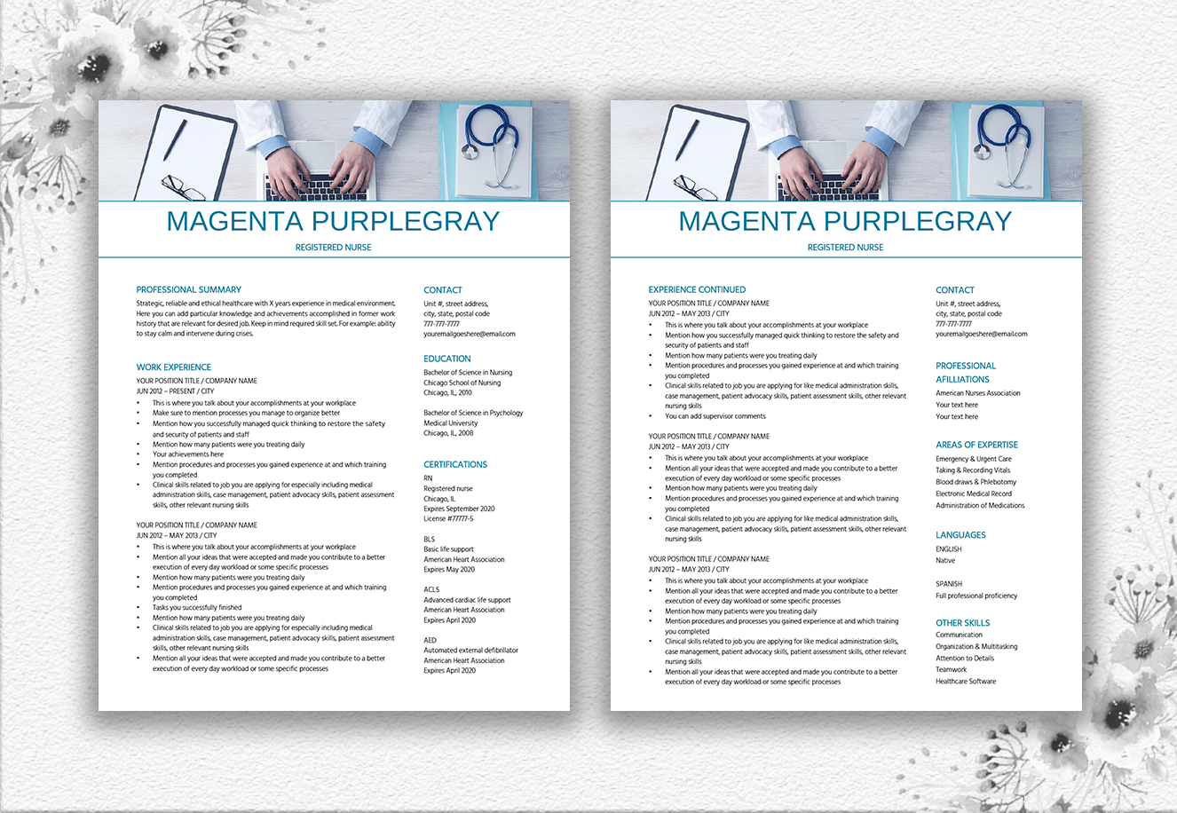 Medical Resume Template example image 2