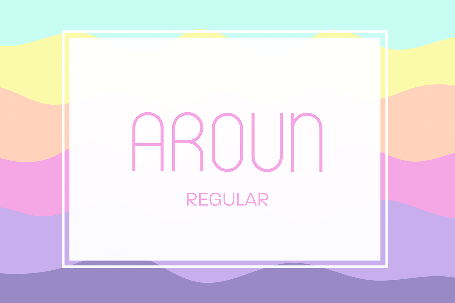 Aroun|All Caps Typeface| 5 Styles Included example image 2