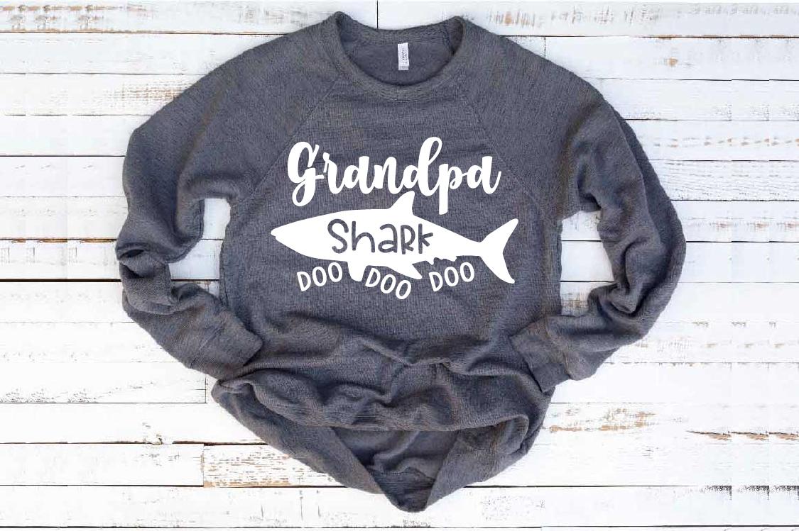 Grandpa Shark SVG Doo Doo Doo Family Birthday Sea 1307S example image 1