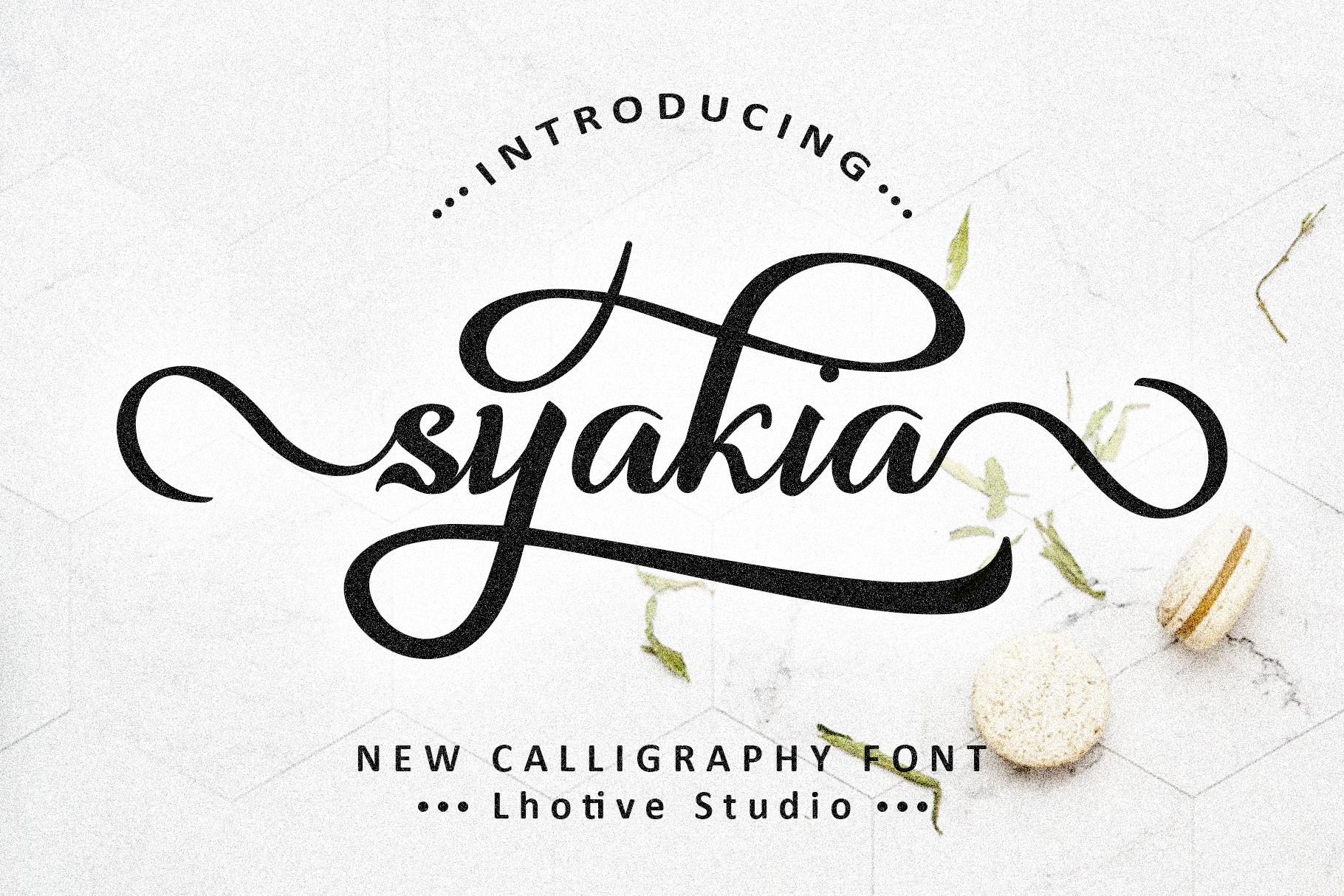 Syakia | New Calligraphy Font example image 1