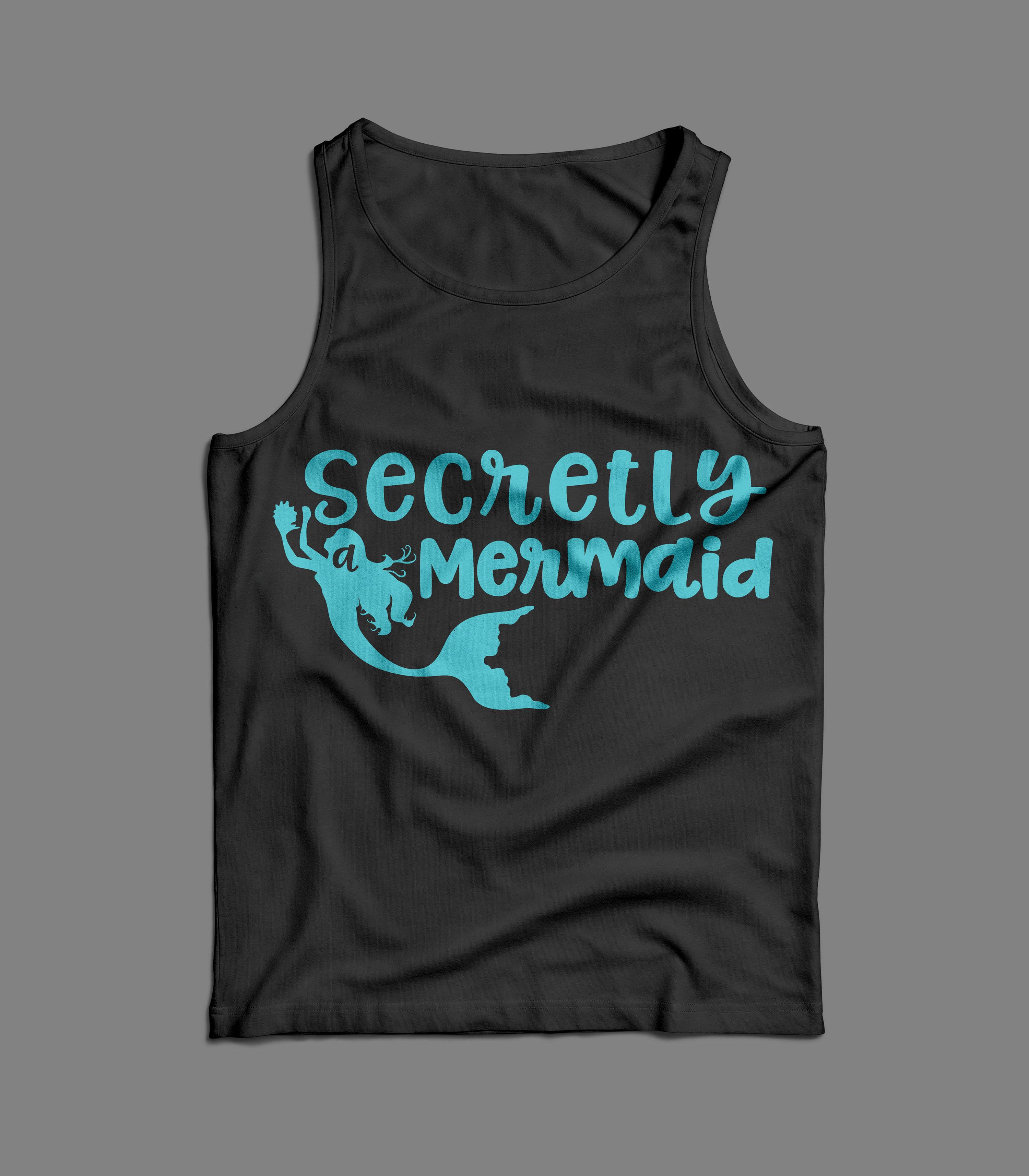 Secretly a Mermaid svg digital cut file Mermaid Love example image 4