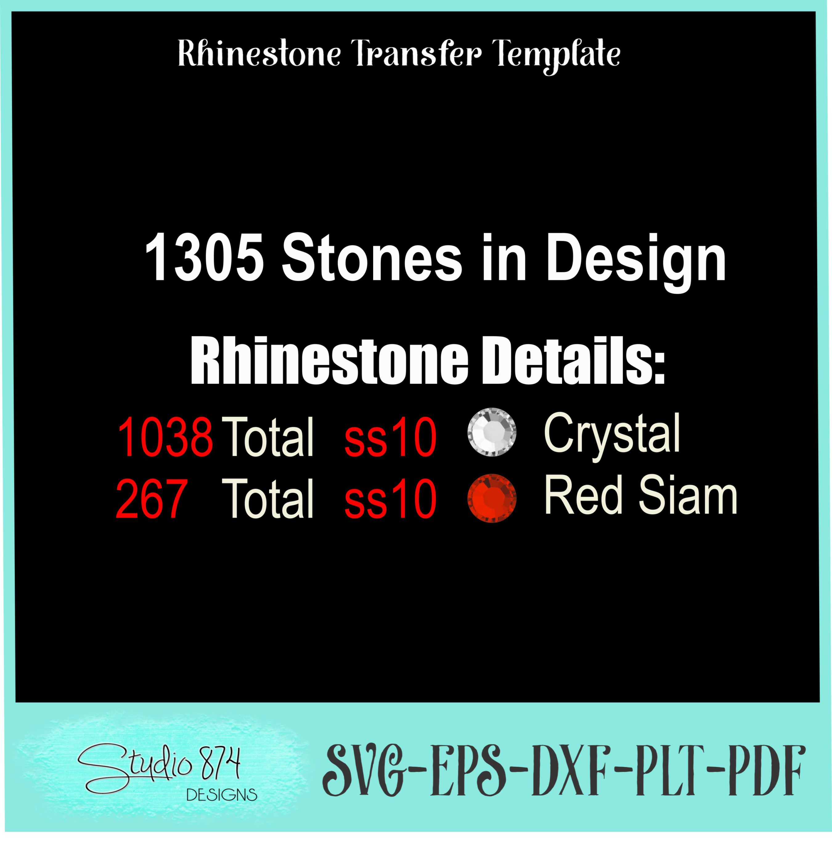 Stepping Into My Birthday Rhinestone Template - Boss R1 example image 3