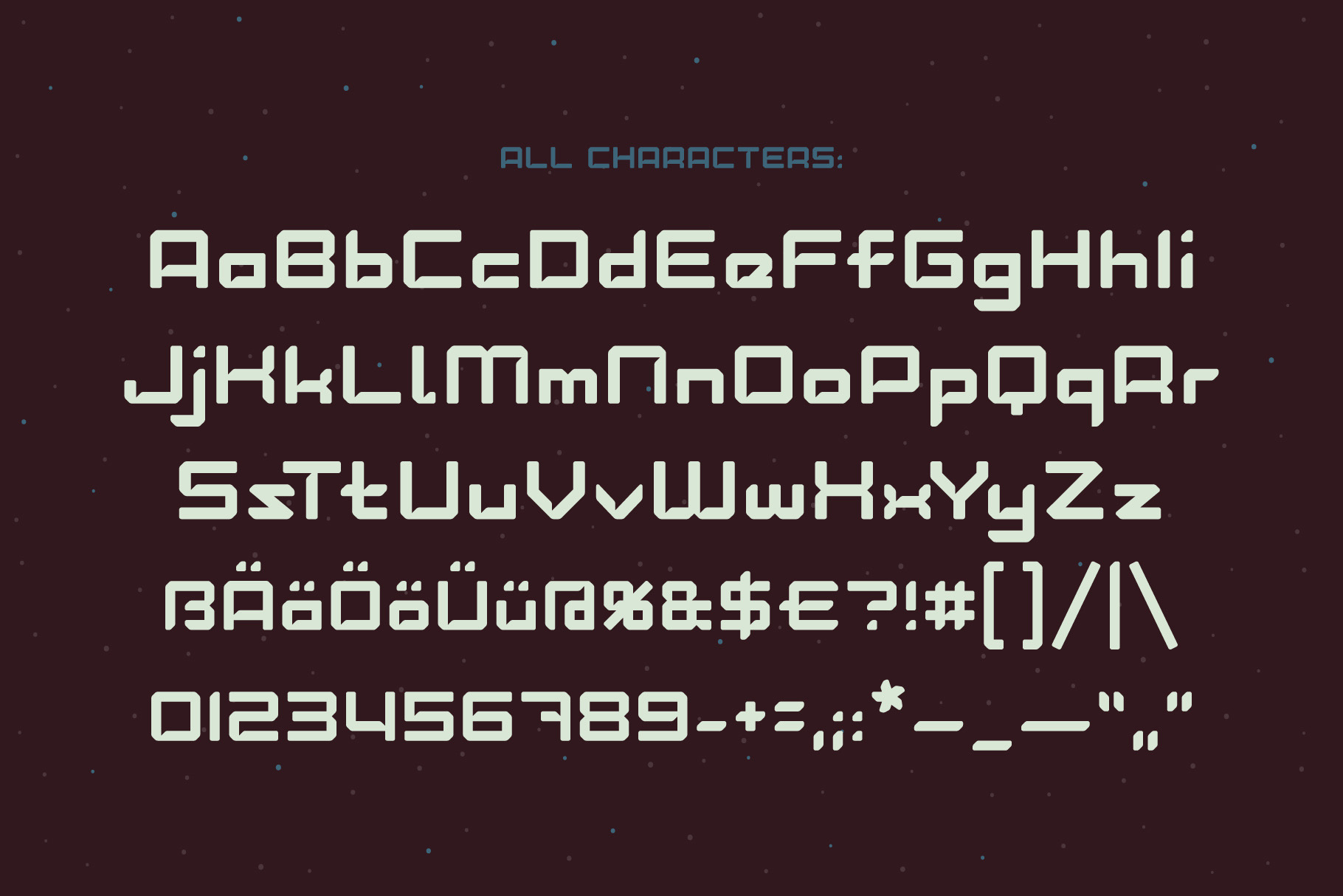 Lost in space. Futuristic typeface example image 3