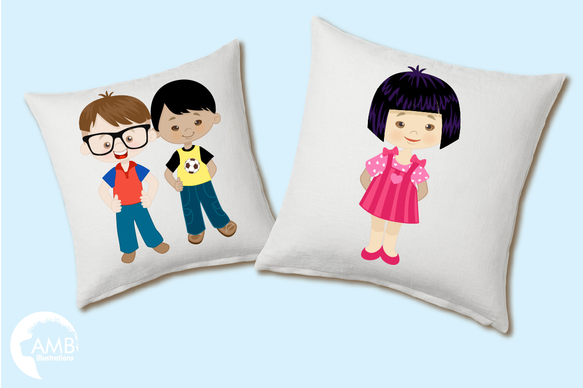 Multi-cultural kids series 1, clipart, graphics and illustrations AMB-2317 example image 2
