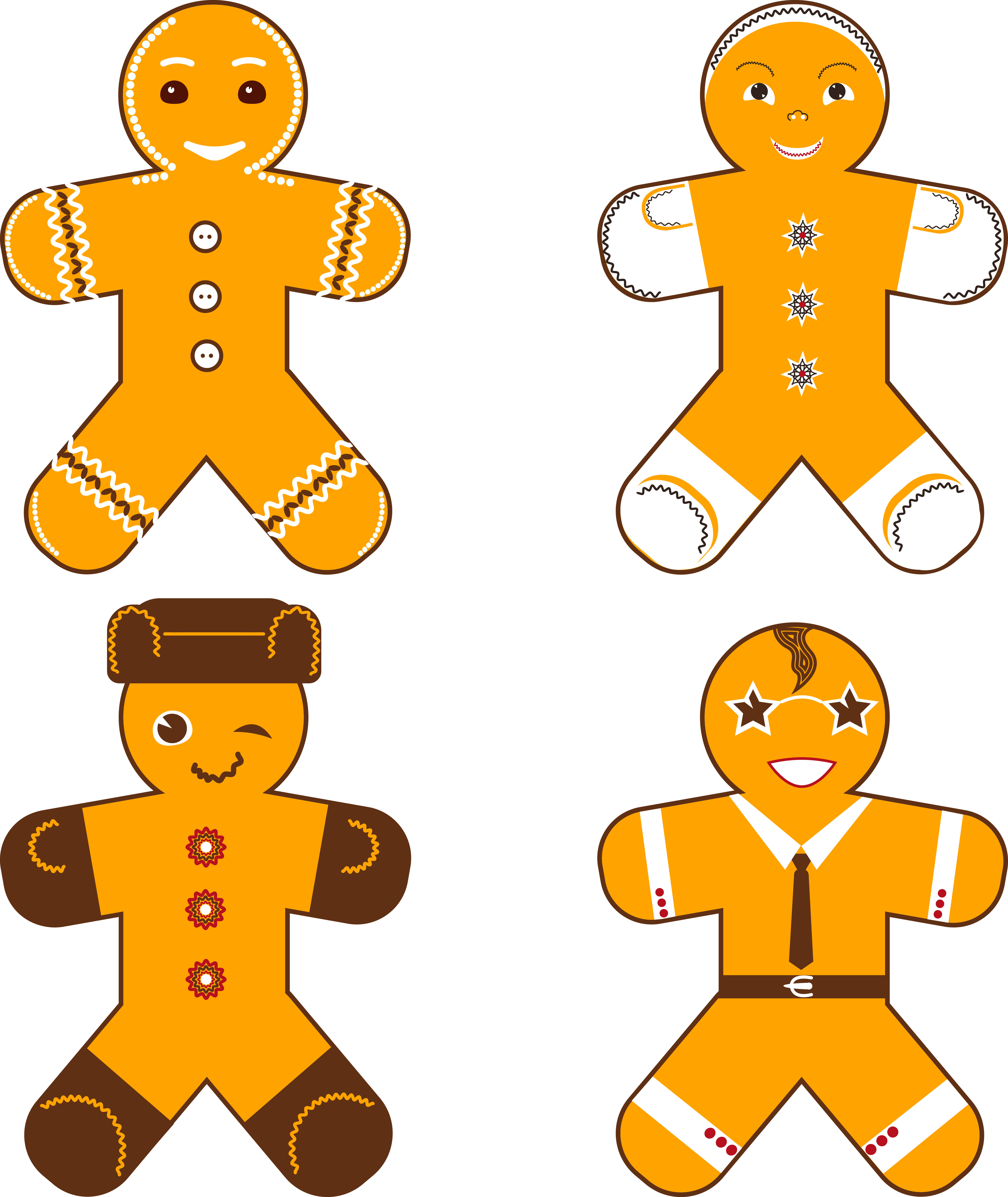 New Year Gingerbread Man example image 1