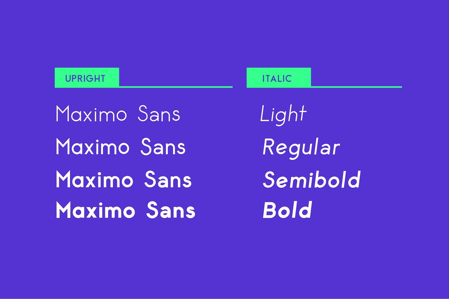 Maximus Sans - A Geometric Sans family of 8 Fonts example image 7