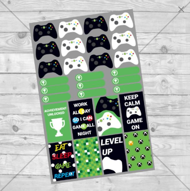 X Box 360 Planner Stickers example image 1