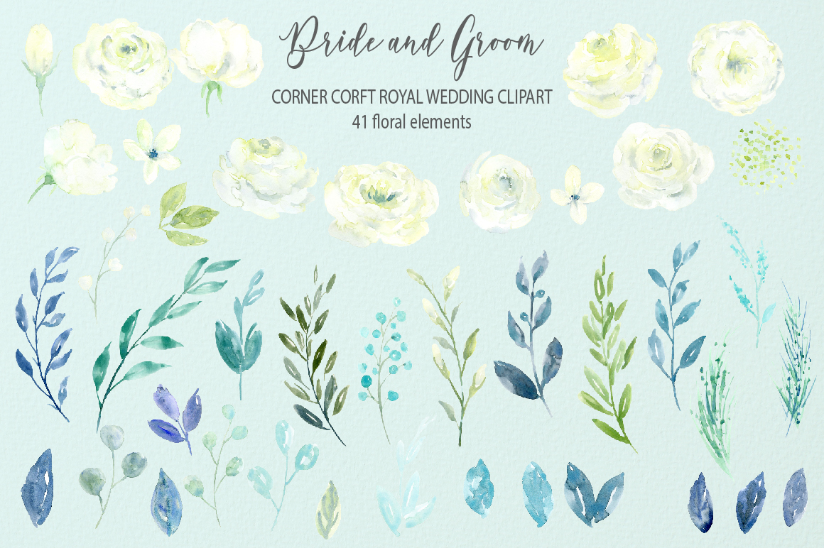 Bride and Groom Figurine Royal Wedding Clipart example image 7