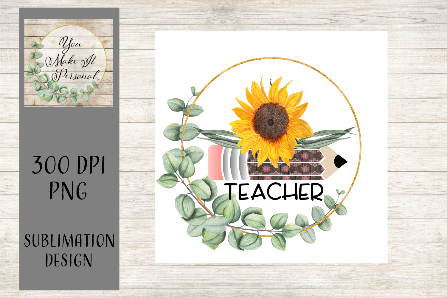 Sublimation Teacher Design - Perfect for Dishtowels and More example image 1