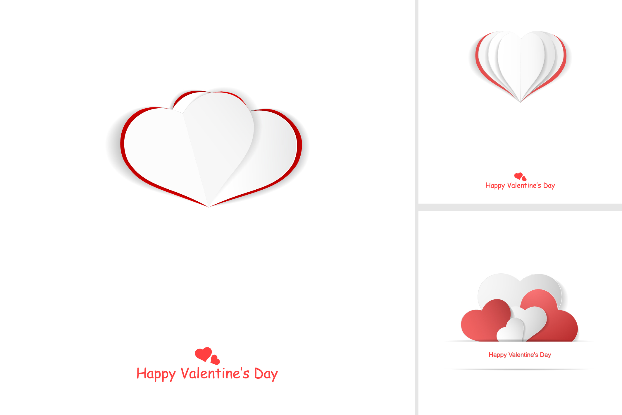 Valentine day postcards with hearts example image 8