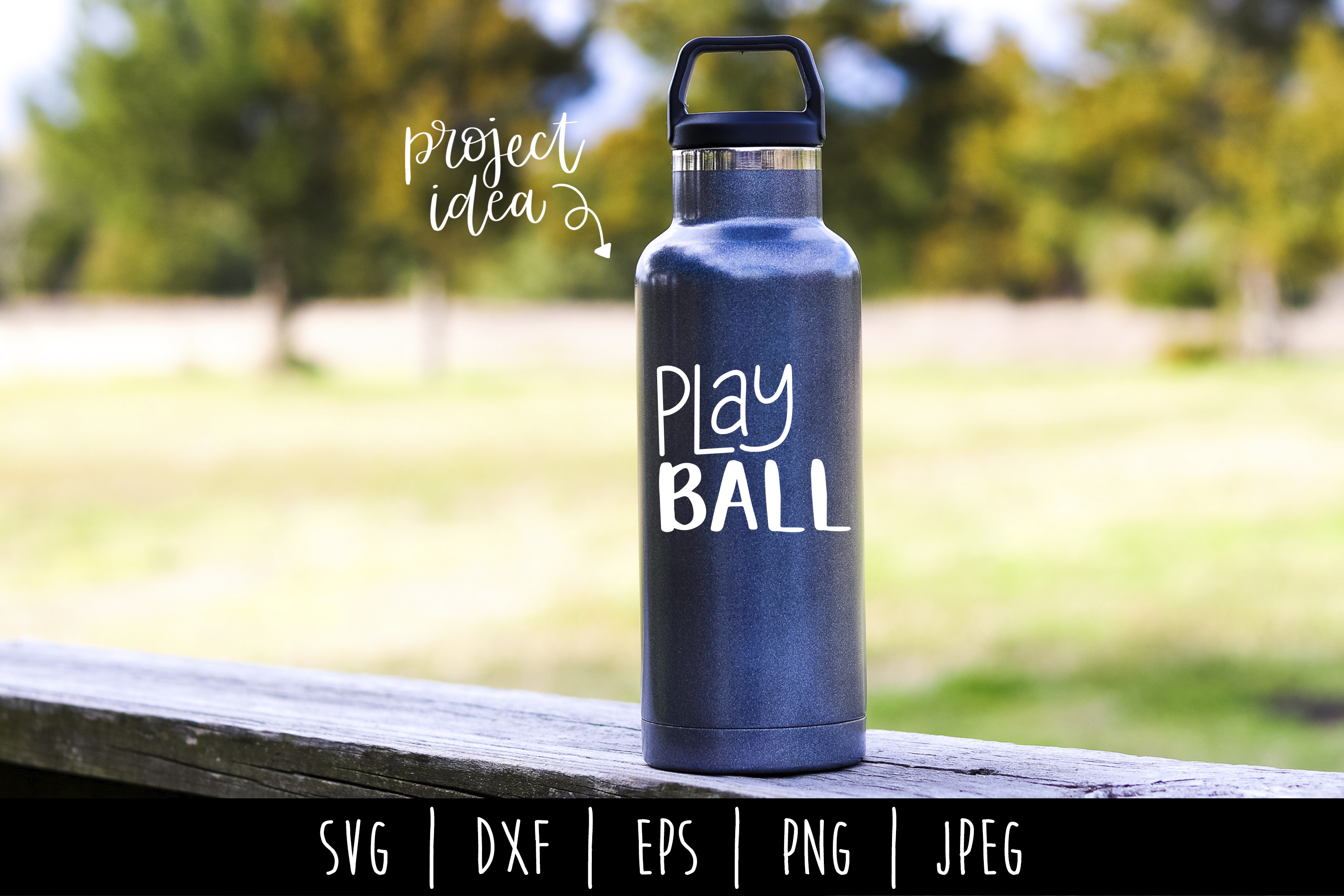 Play Ball SVG, DXF, EPS, PNG, JPEG example image 1