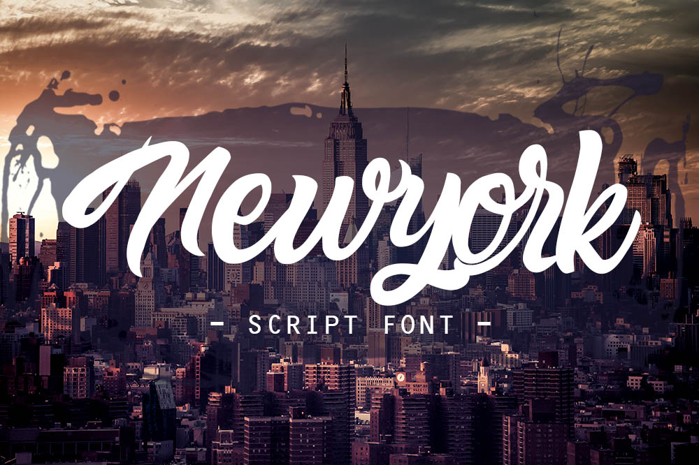newyork script font example image 6