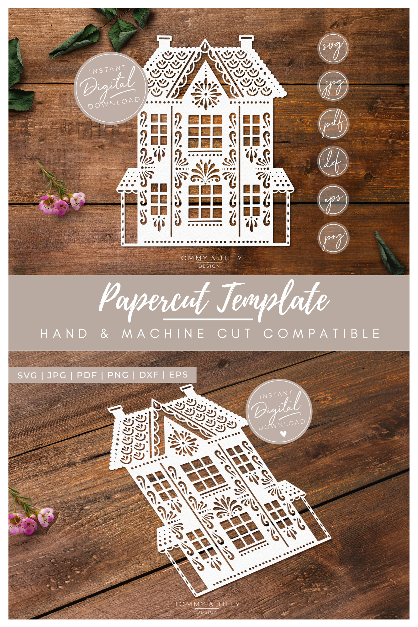 Intricate House No.1 - SVG EPS DXF PNG PDF JPG Cut File example image 7