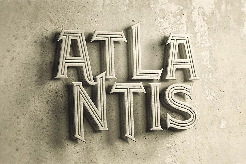 Atlantis - Vintage Style Font example image 5