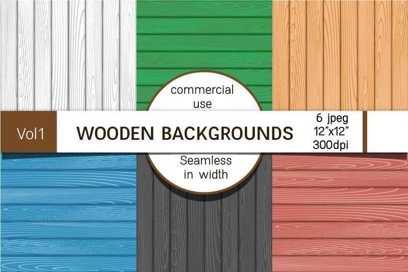 Backgrounds with wooden boards, textures of different colors example image 1