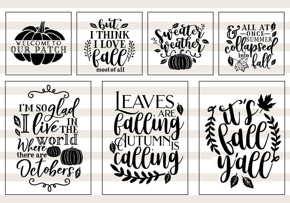 Pumpkin & Fall Quote SVG Cut File Bundle example image 2