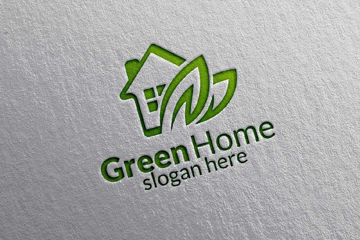 Real estate Logo, Green Home Logo 9 example image 4