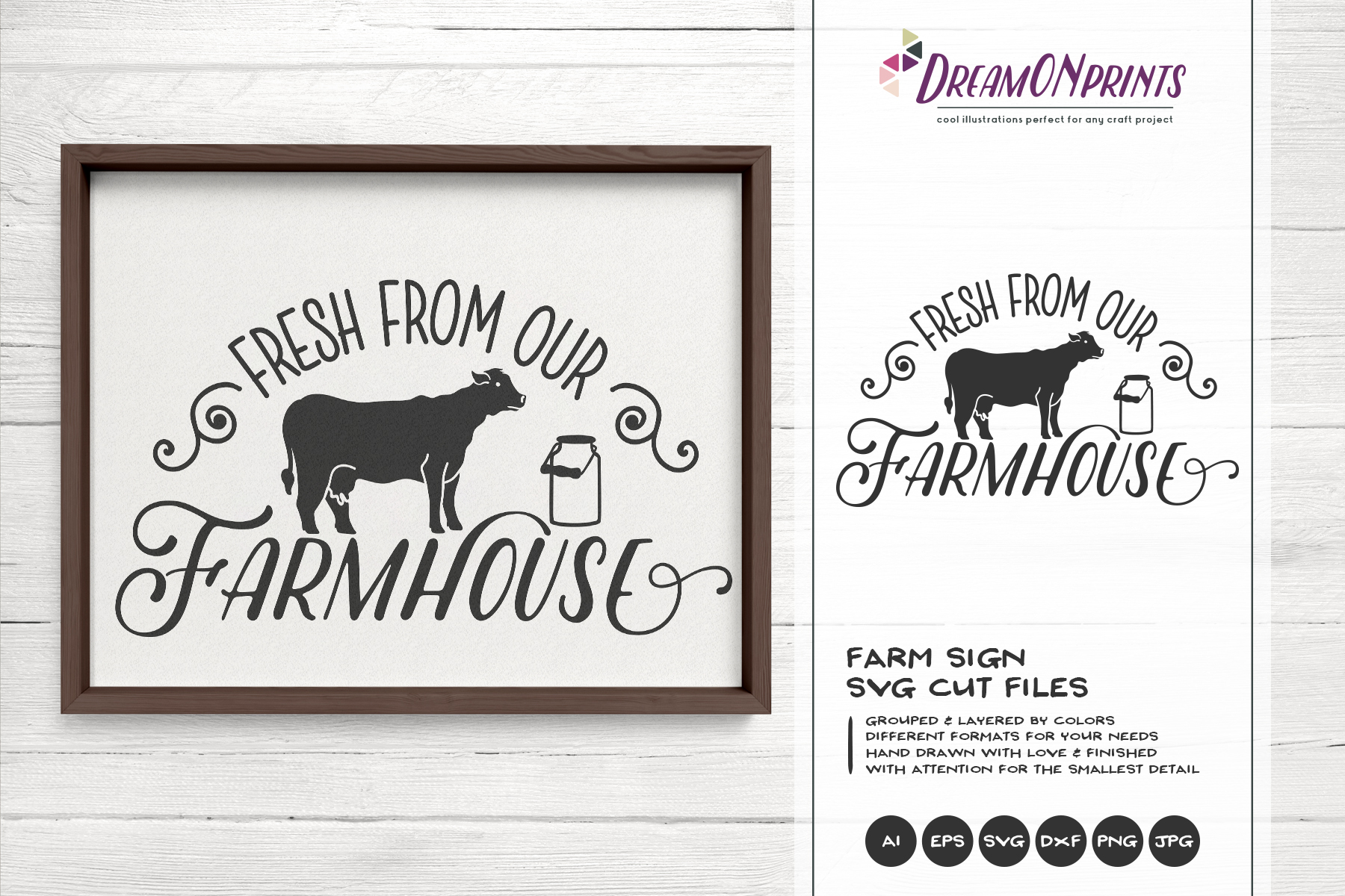 Fresh from Our Farmhouse SVG - Farm Sign SVg example image 1