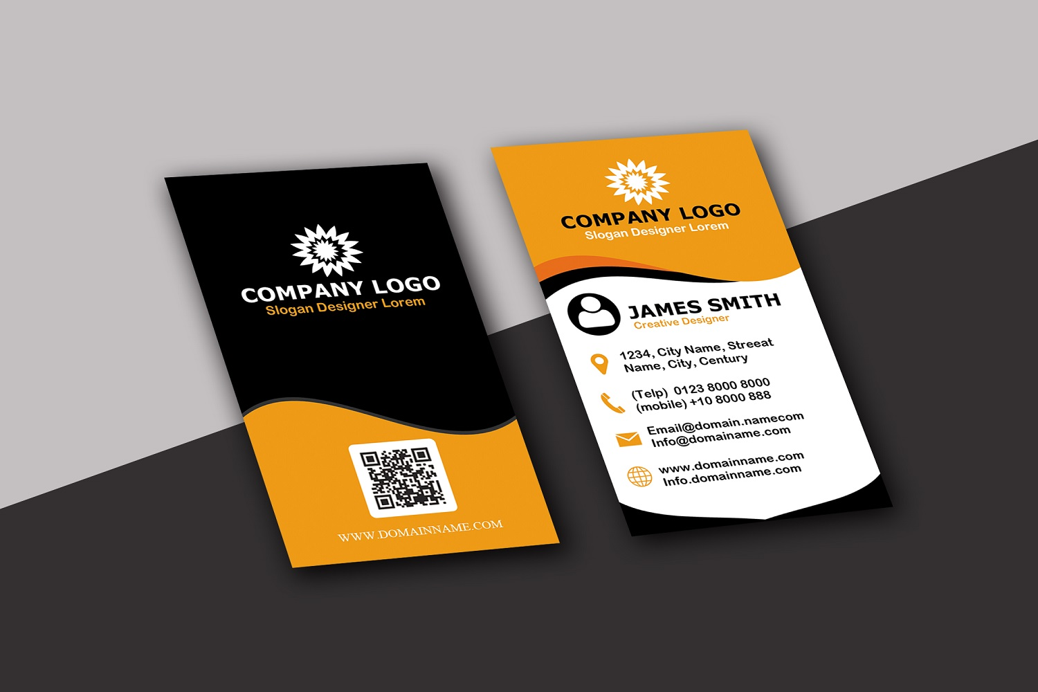 Vertical Modern Business Card example image 4