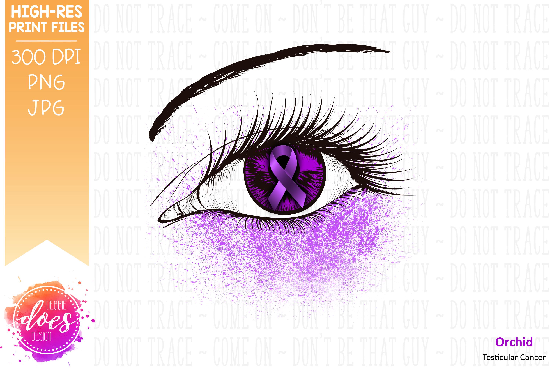 Orchid Awareness Ribbon Eye - Printable Design example image 2