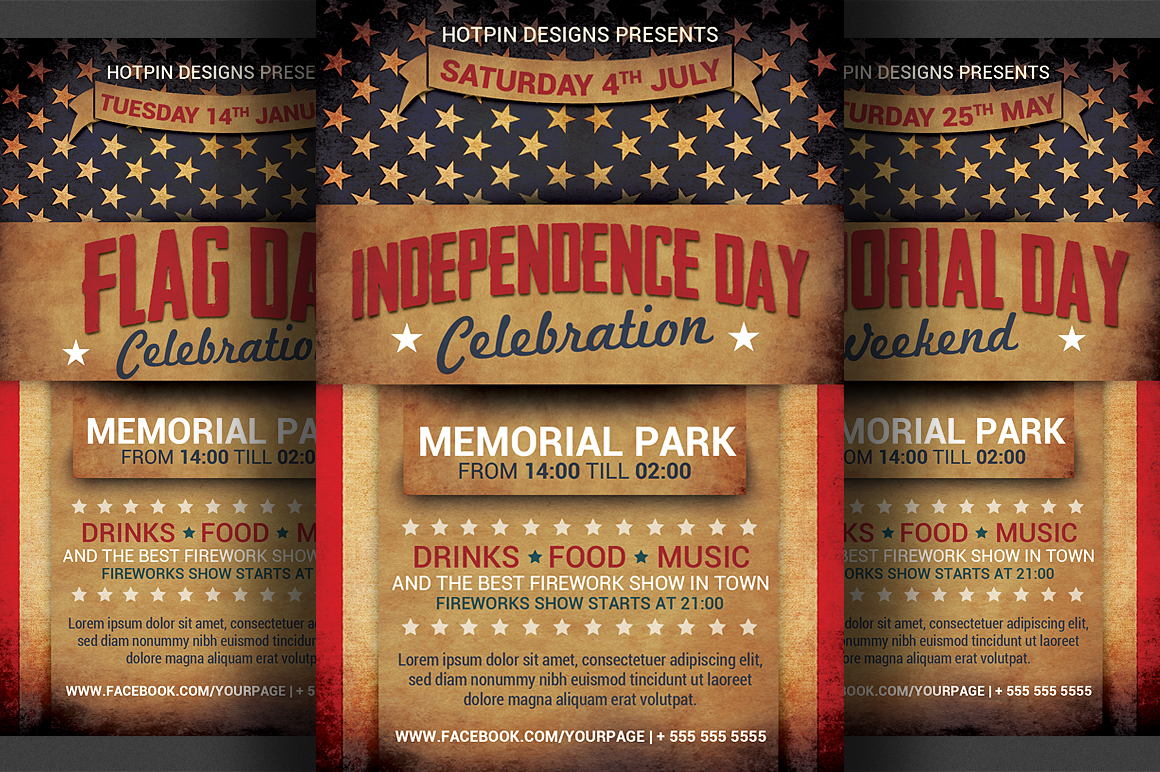 Independence Day Flyer Template example image 1