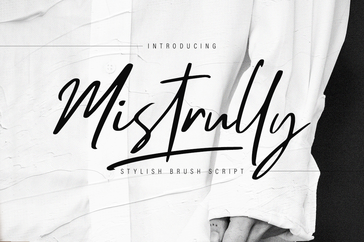 Mistrully Brush Script example image 1
