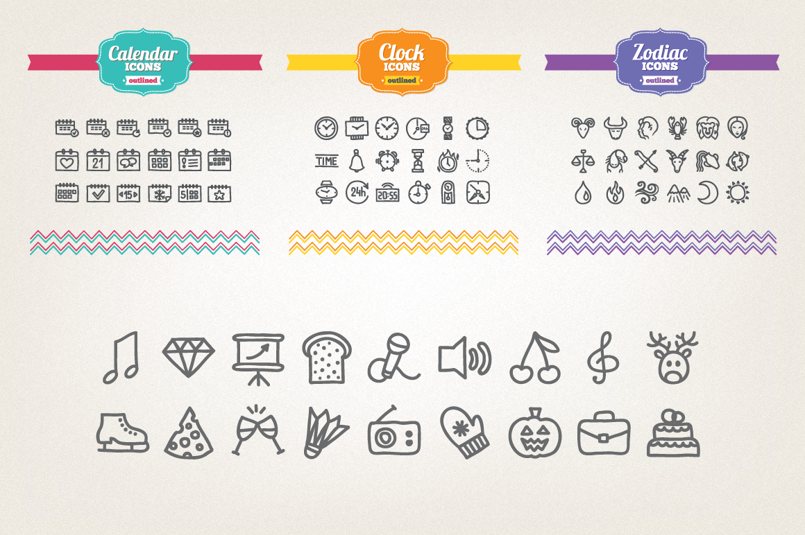 83 Off - Hand Drawn Icons Bundle example image 9