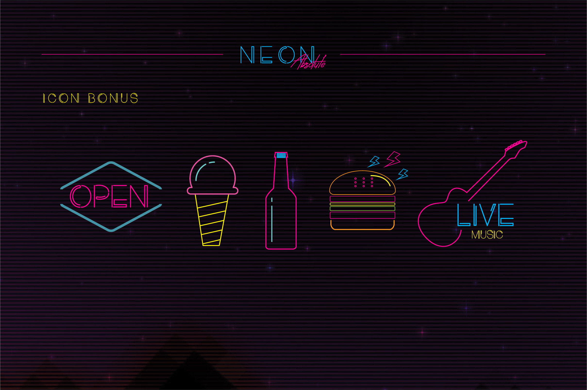 Neon Absolute - Font Duo example image 9