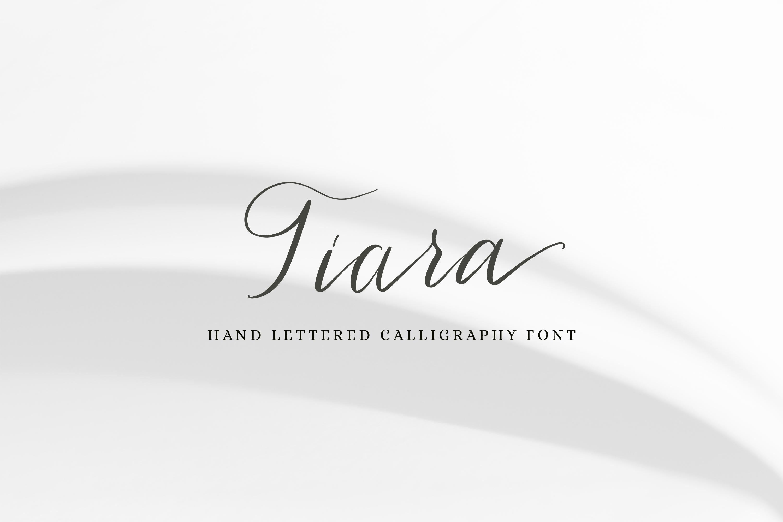 Tiara / modern calligraphy script example image 1