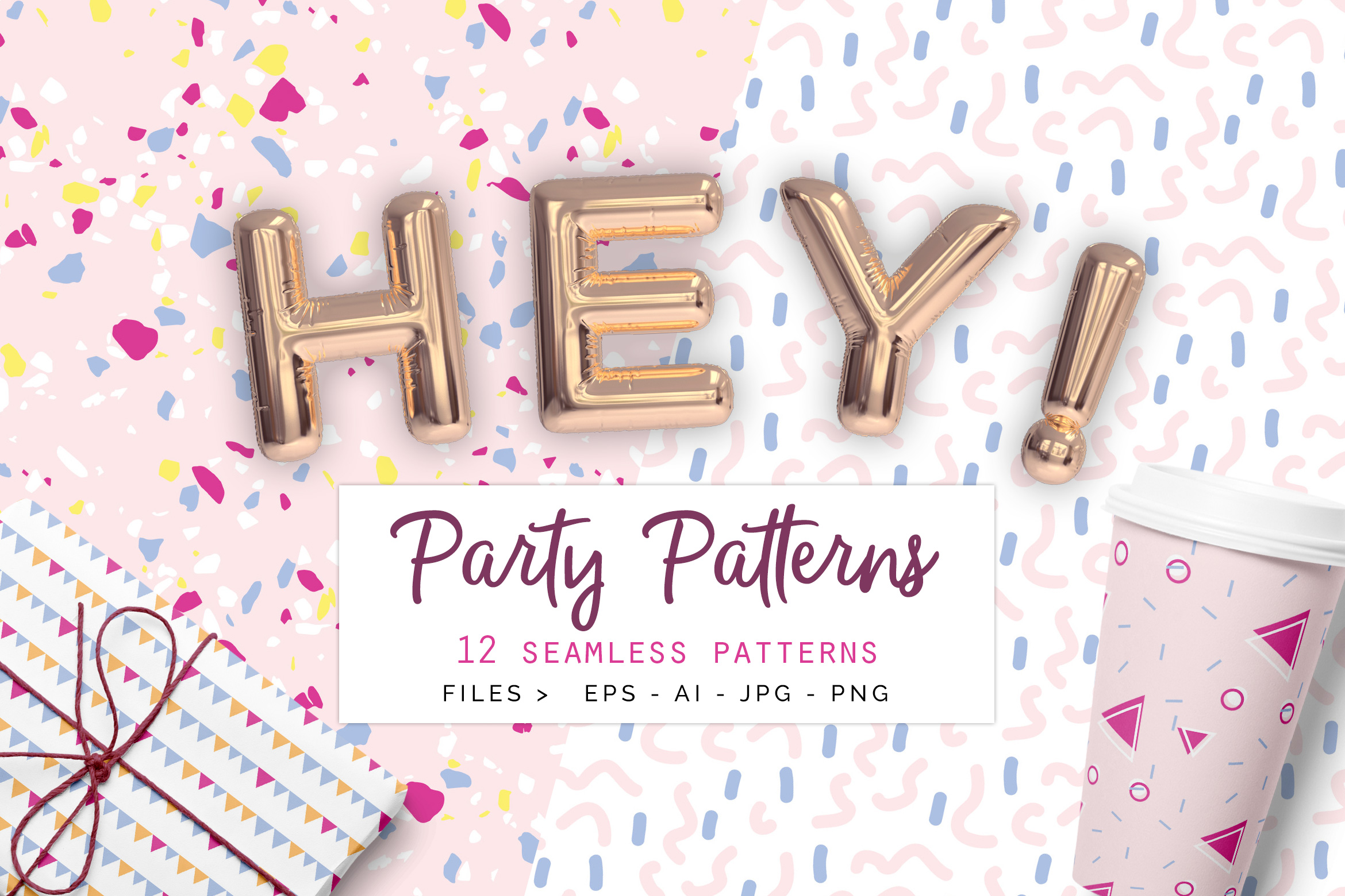 Party Patterns set of 12 example image 1