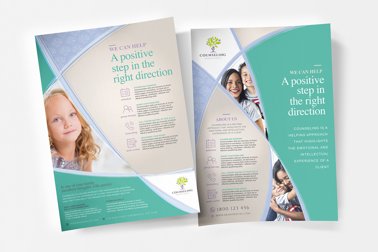 A4 Counselling Service Advertisement Templates example image 1