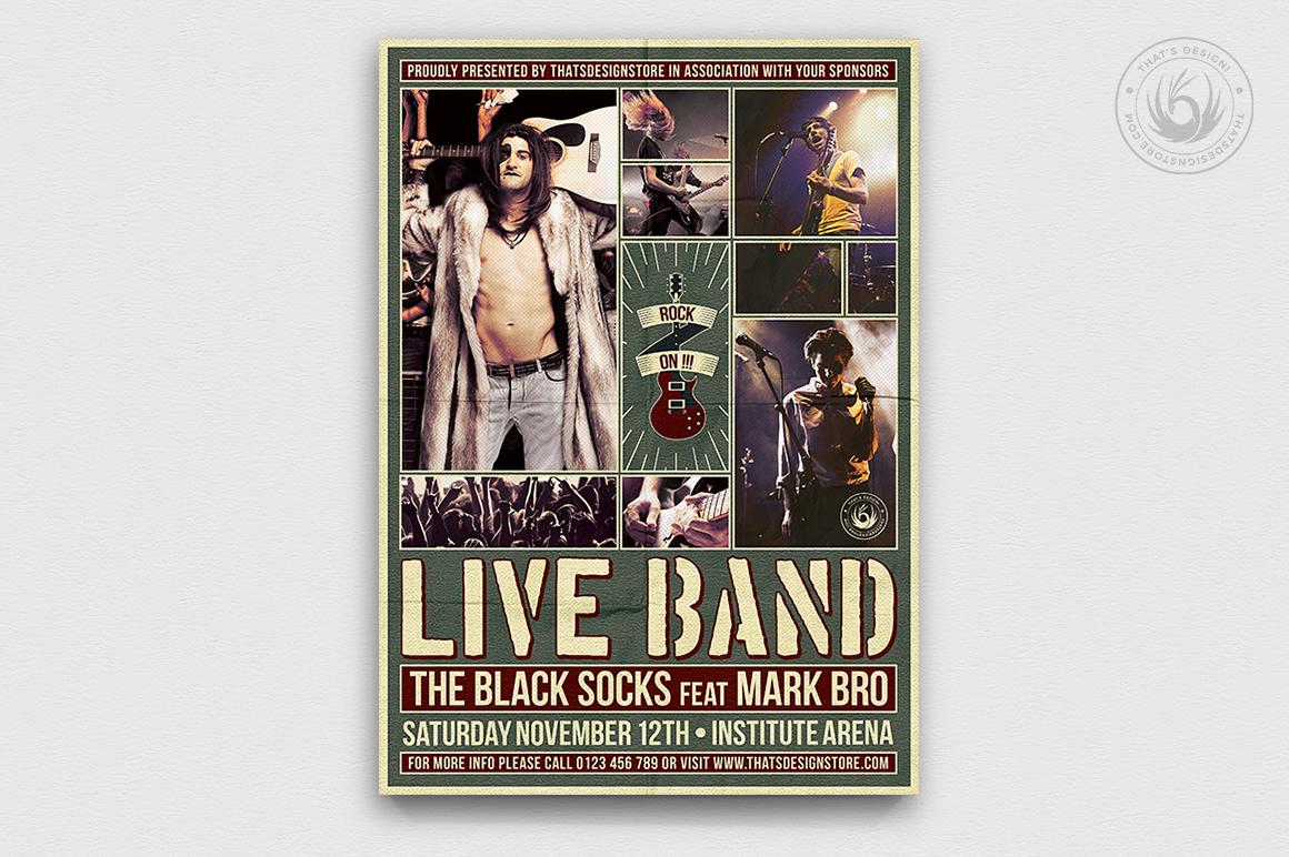 Live Concert Flyer Template V6 example image 1