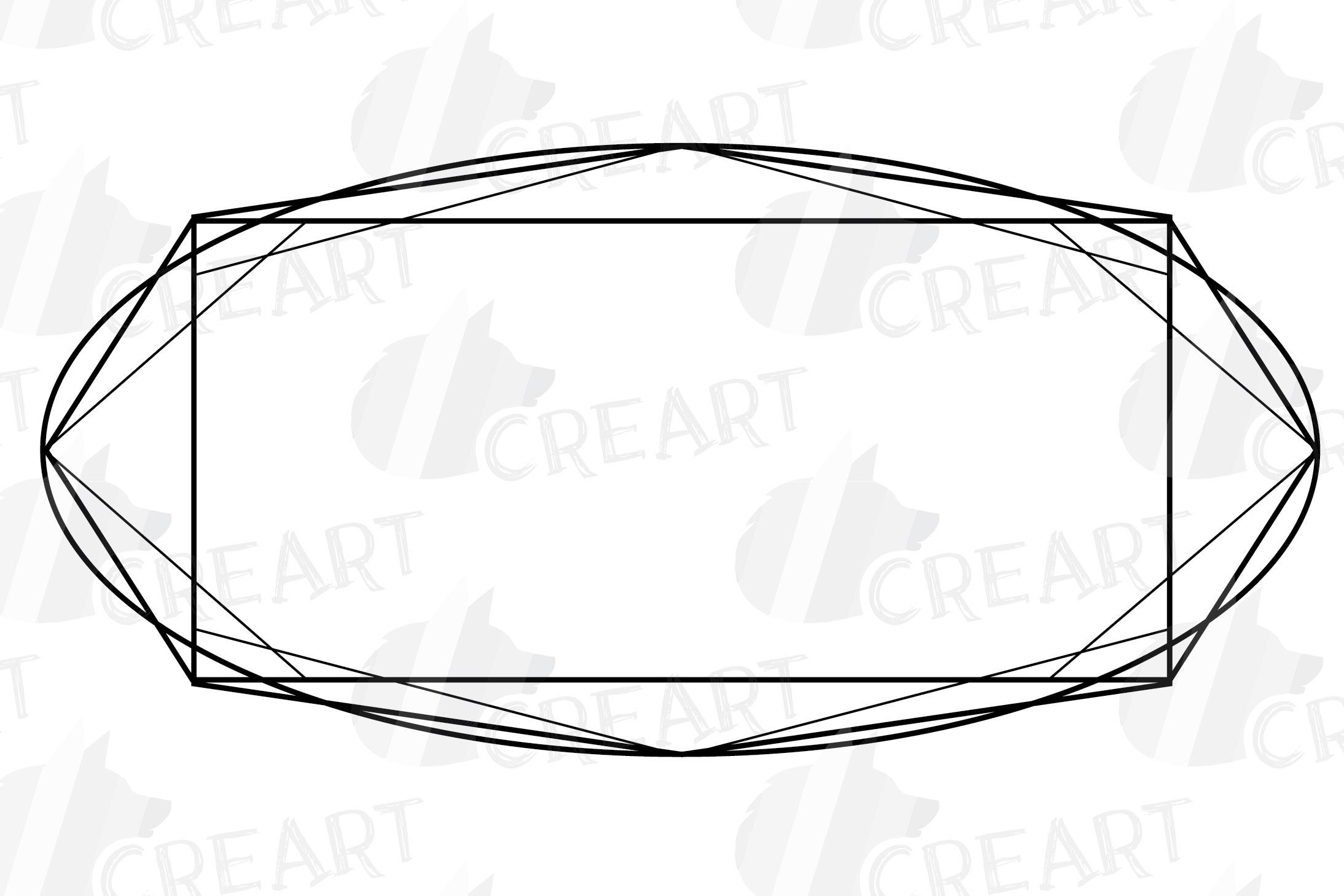 Geometric lineal black frames decor clip art. Wedding border example image 18