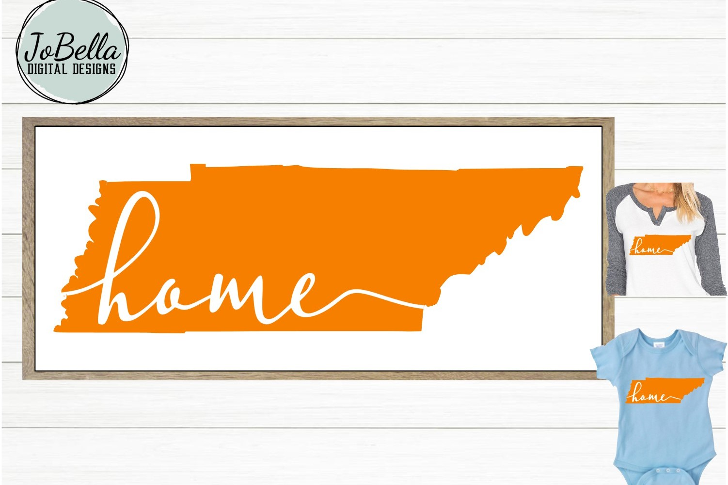 Orange Tennessee with Home SVG and Printable example image 2