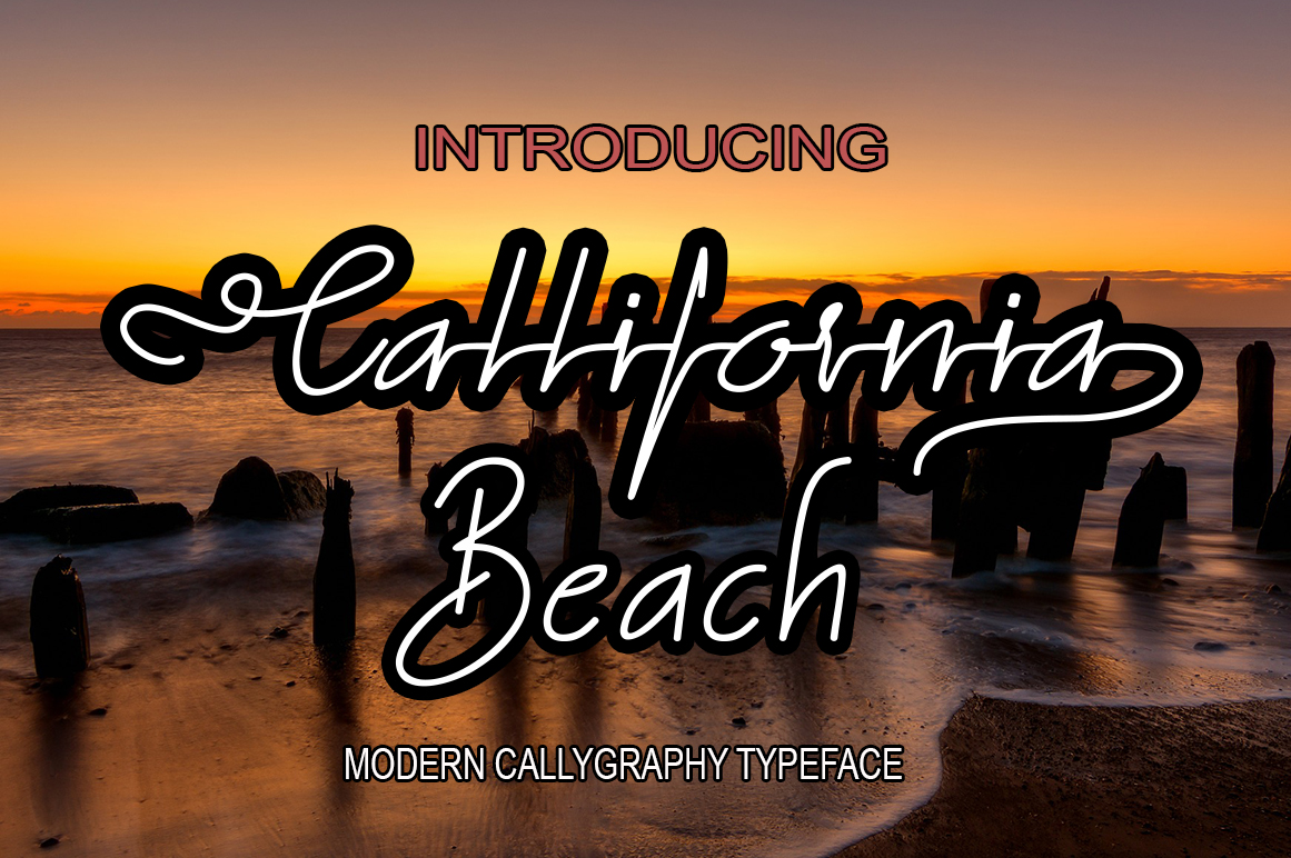 California beach new font duo example image 1