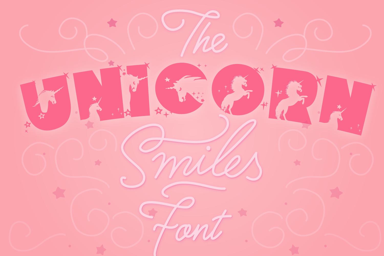 Unicorn Font | Unicorn Smiles Layered Font and Bonus Files example image 9