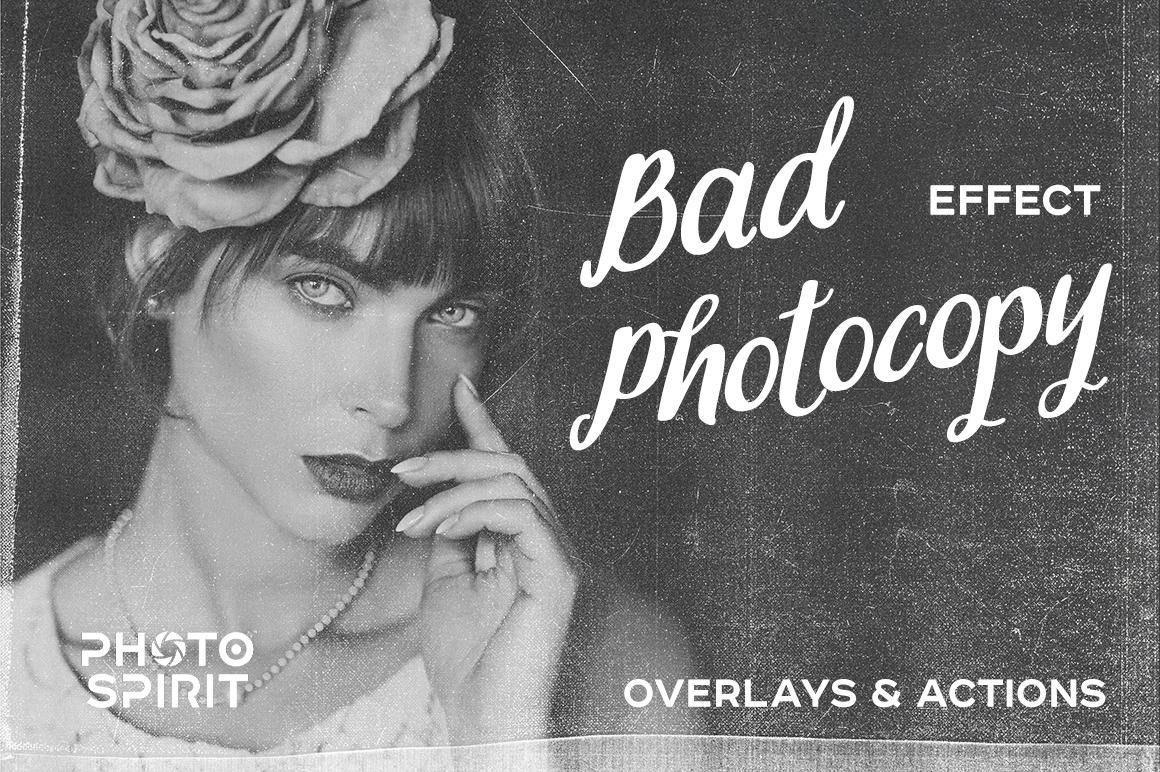 Bad Photocopy Effect Overlays example image 1