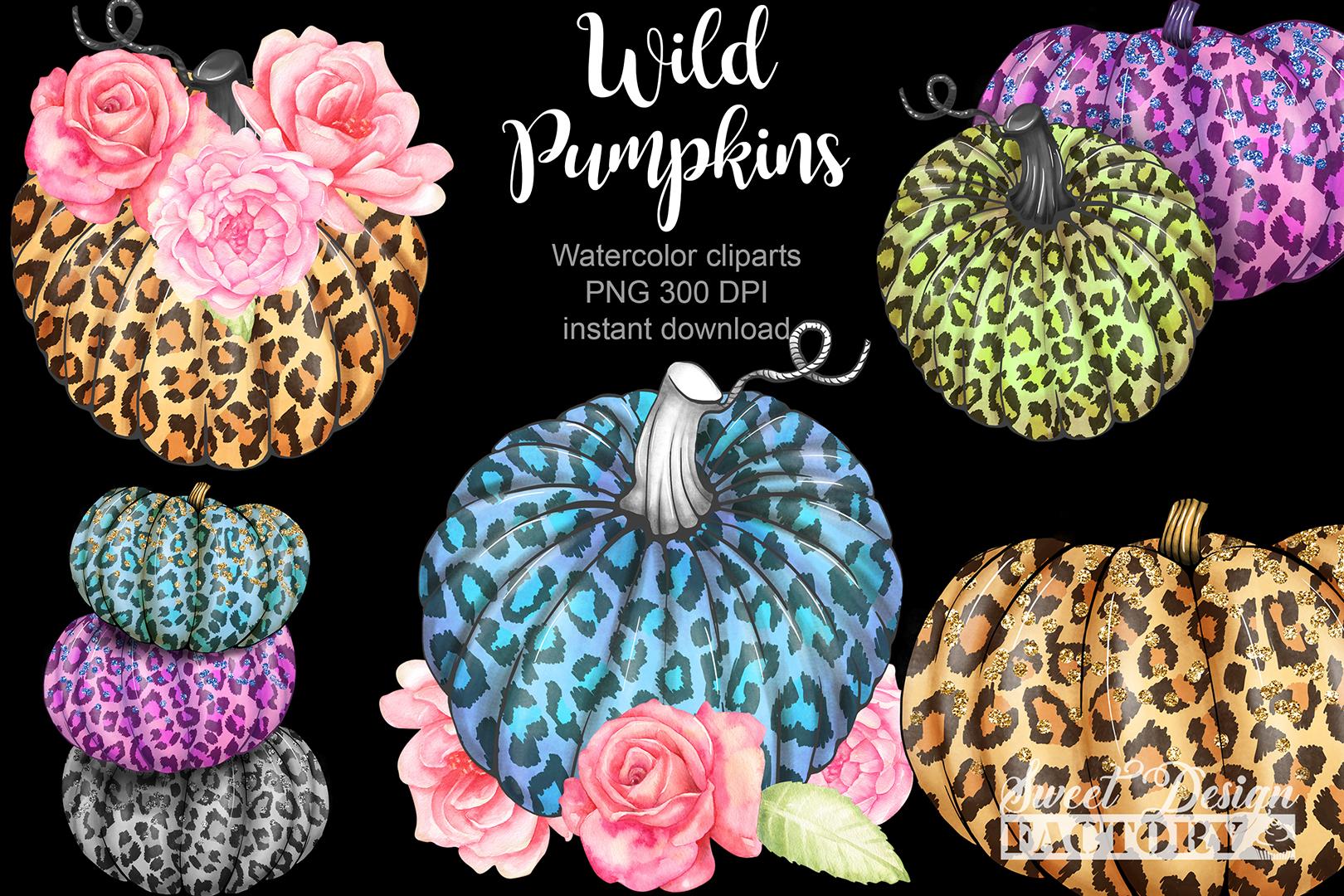 Leopard pumpkins cliparts example image 2