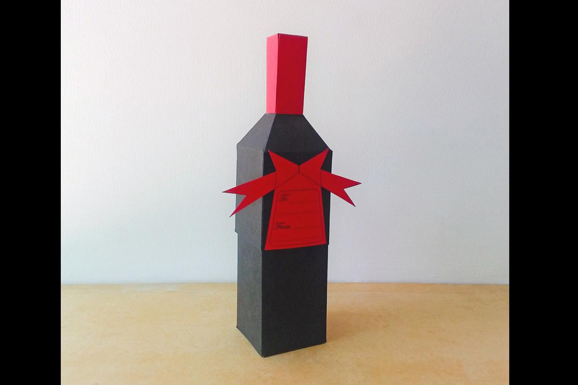 DIY Bottle favor - 3d papercraft example image 1