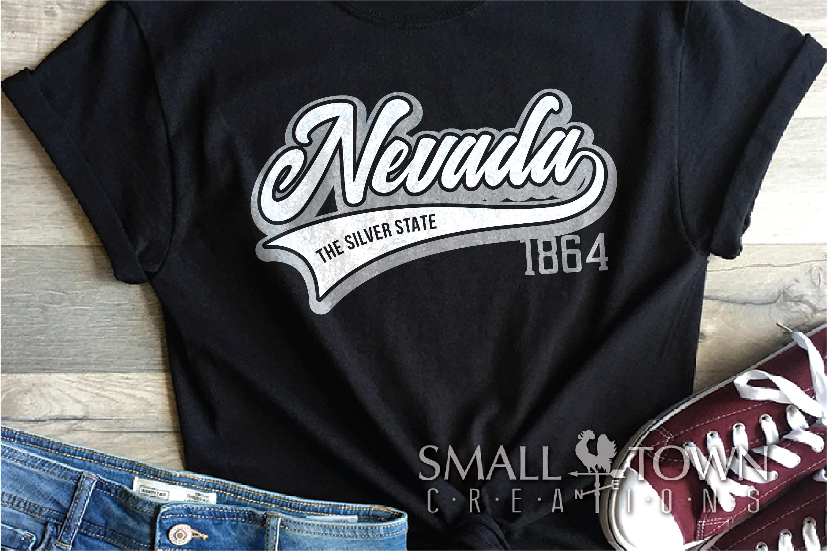 Nevada, The Silver State - slogan, Logo, PRINT, CUT & DESIGN example image 2
