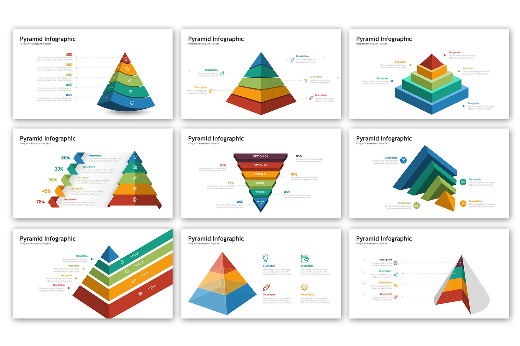 Pyramid Presentation - Infographic Template example image 2