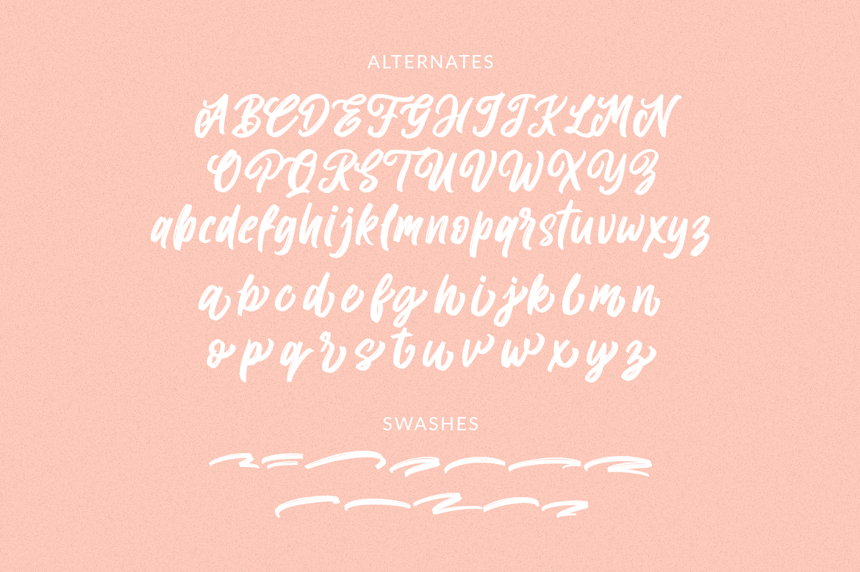 Allitha Handmade Script example image 11