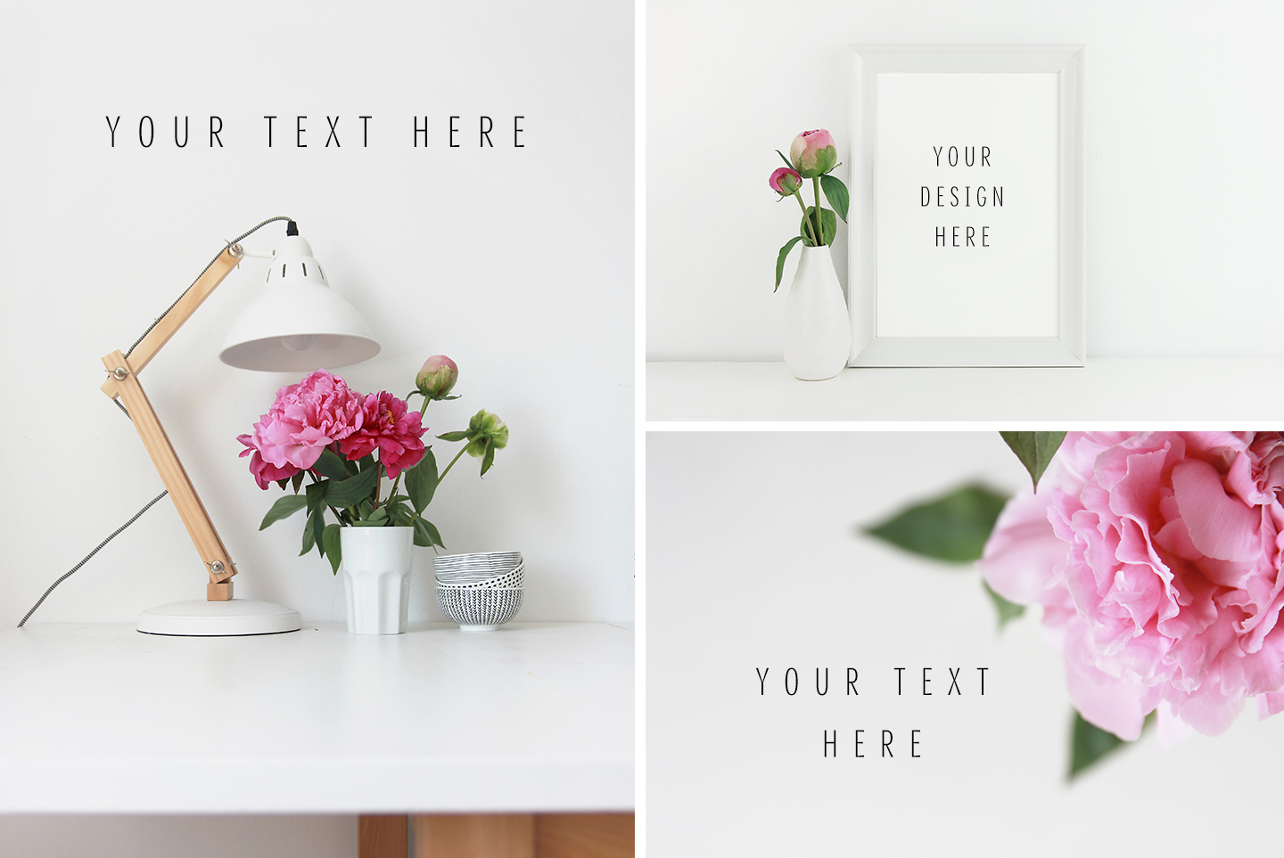 20 Styled stock pink peonies, floral images & mockups example image 5