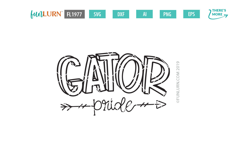 Gator Pride Team SVG Cut File example image 2
